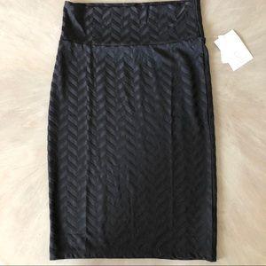 LulaRoe Cassie Skirt sz Small NWT BLACK